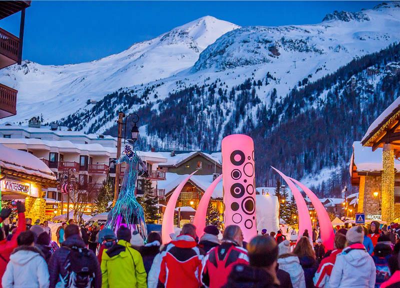 campagne affichage marketing station de ski en savoie